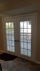 These homeowners wanted to replace their patio door with something that would hold more glass space and add to the home's elegance.