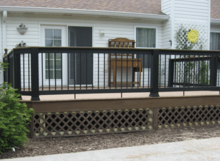 We installed Timbertech Terrain Series Brown Oak with Timbertech Builder Rail.We think you'll agree that it looks beautiful.