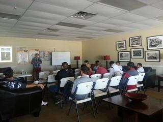 Our Marketing Manager Trey Smedley going over the importance of our internet marketing.
