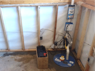 A New SuperSump was Installed in one of the Corners of the Basement