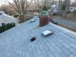 This shingle roof was about 15 years old and had several leaks.