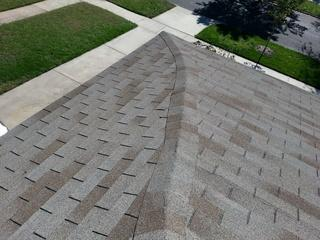 Here is a before photo of the asphalt shingles.