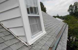 You can see here some of the flaws and issues with the existing shingles.
