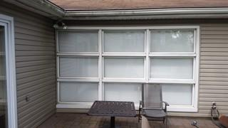 One major piece of this project was changing this window ensemble out for new double hung windows.