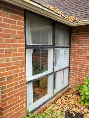 Just the wear and tear of these windows gave an unattractive sense of aging and took away from the design.