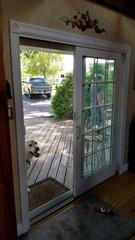 The goal of this patio door upgrade was for more visibility and better performance.