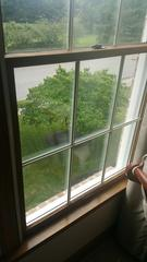 The wood windows original to the home had some serious rot issues affecting the wood around the windows.
