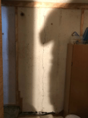 This is the location of the crack in which water would enter the basement