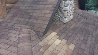 This photo shows the valleys and areas we needed to install extra flashing to prevent leaks.