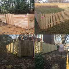 Multiple fence installations in Purcellville, VA by the MC Fence & Deck team.