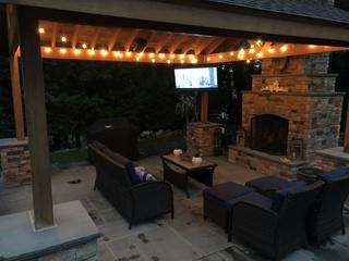 The all weather SunBrite TV completes this beautiful installation.