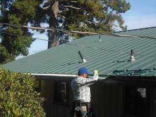 MasterShield being installed on metal roof in Portland
