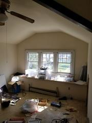 Here's a shot of some of the wood windows to be replaced.