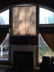 These homeowners wanted to cover up that window with stone, and rework the rest of the design.