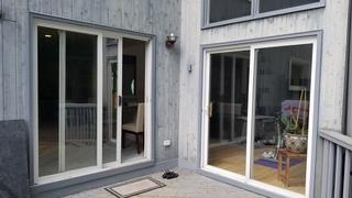 These homeowners wanted to replace their existing patio door with ones that would provide energy efficiency, durability, and easy operation for the long run.