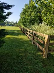 Beautiful new fence installation completed!