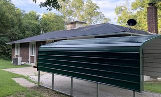 Side view of the new Owens Corning Duration Onyx Black Shingles.