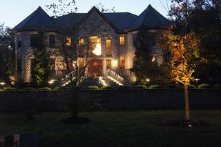 This home in Colonia, NJ had it's beautiful facade accented with Nite Time Decor lighting