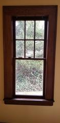 Here is a before shot of the older wood windows to be replaced.