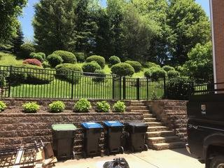 """We installed this stunning 54"""" Classic black aluminum fence for our customers in beaver!"""