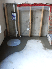 Our Supersump pump was installed in this basement