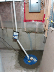 The Supersump was installed in an area of the basement that worked best for the homeowner and crews to install it efficiently