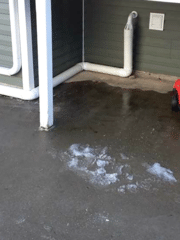 Is an anti-freeze fitting that is installed outside of your home and ejects water away from the foundation in the event that the sump pump discharge lines freeze or become clogged.