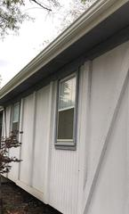 This is the old siding on front of the home in Olathe, KS.