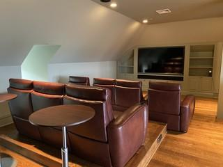Completed custom home theater.