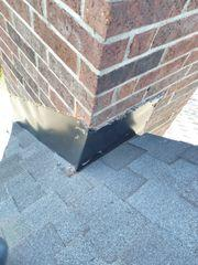 New flashing installed on chimney from the top.
