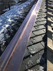 Replaced aluminum with copper ridge vents.