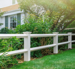 One of our most requested fence designs. Although simple, it can change the look of your property drastically!