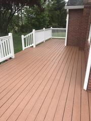 Our exclusive Acrylic Polymer deck coating is warranted for 10 years.  Decks require more maintenance than any other part of the home's exterior until now.  We've solved that problems and our deck painters are here to help you.