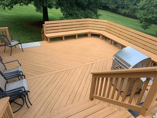 Our deck painters gave this deck a new finish with a 10 year guarantee.