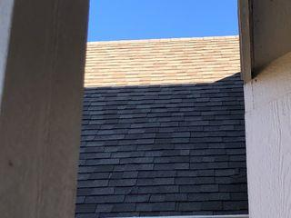 Replacement asphalt shingles installed.