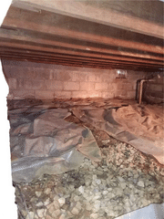 Damp, drafty crawlspace