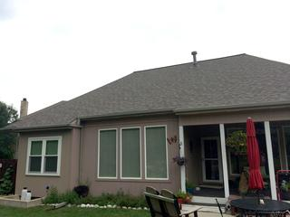 New Duration Shingles that replaced the old roof.