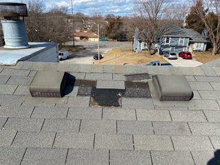 The roof vents that were damaged.
