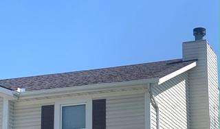 New 5 inch gutters installed along with OC Duration shingles.