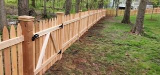 Cedar picket fence