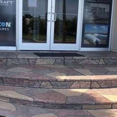 The steps outside this Kennewick, WA business were restored using the SUNDEK system.