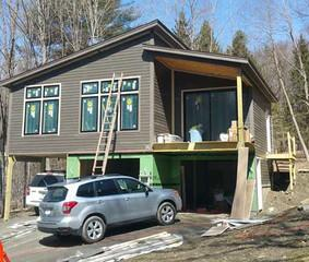 We installed new siding on this Monterey, MA home.