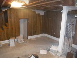 Before basement waterproofing in Georgetown, DE, this space has seen multiple issues with mold and flooding
