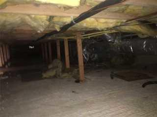 Cold drafty crawlspace