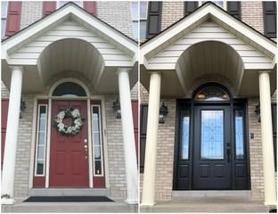 This is an excellent before & after of the entryway. What a difference!