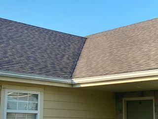 Asphalt shingles in the valley were replaced.