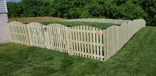 M.C. Fence installed this treated wood fence in Stafford VA.  