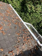 From above, you can see that Gutter Shutter's hood system keeps out leaves and other debris to prevent clogging.