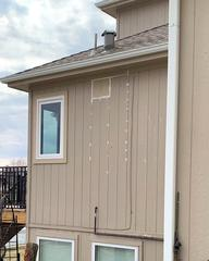 10 inch hood vent was installed and the siding where the old vent went out was fixed.
