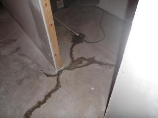 The cracks in the floor can lead to water penetrating your basement